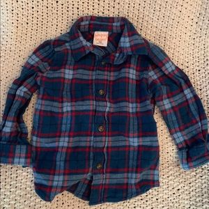 18 month Jumping Beans button up flannel